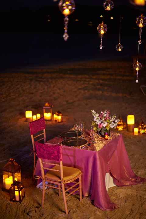 Dinner for Two on the Beach